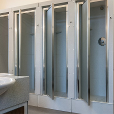 Bathroom pod cubicles for Stowe School