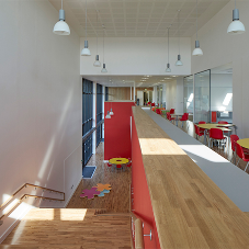Solid Oak floor at award-winning school