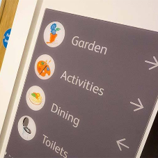 Innovative bespoke signage for care home