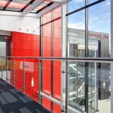 Stainless steel balustrades for Matalan HQ