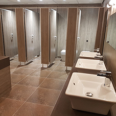 Washroom fit-out for Demon Tweeks