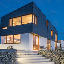 Vanguard rainscreen cladding for sustainable home