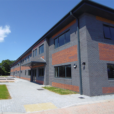 Aluminium rainwater system for new offices