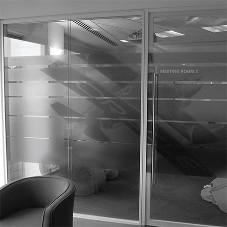 Frameless double glazed partitions for Oracle, Bristol