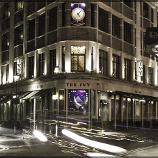 Exterior and interior lighting for The Ivy in Covent Garden