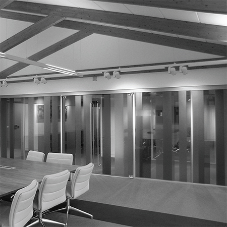 Lusso double glazed frameless partitions at The Pavilions