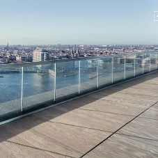 Glass balcony railing solution for A'DAM Tower