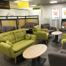 Retro sofas for supermarket chain