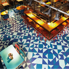 Striking floor patterns for new restaurant