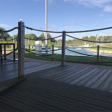 Anti-slip decking for Lee Valley water centre