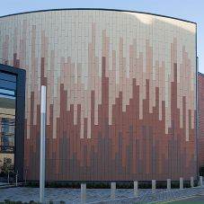 Ombre tiled façade for Cardiff Business School