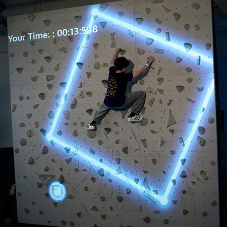 Collaboration created an interactive climbing wall