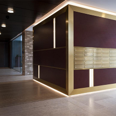 Bespoke mailboxes for luxurious apartments