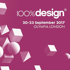 Nice to exhibit at the 100% Design show in September