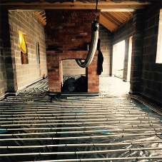 Bespoke underfloor heating system for a new build home