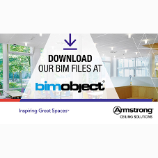 BIMobject portal of choice for Armstrong Ceiling Solutions