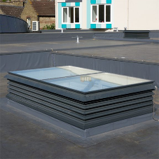 Ventilation rooflight turrets for London School