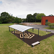 Broxap outdoor furniture and play equipment for new school