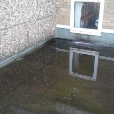 School risk assessment: hazards of a leaking roof