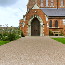 Resin bound footpaths at St Thomas Church