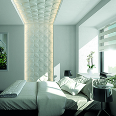 Refined living with 3-dimensional wall design