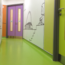 Durable rubber floorings for Childrens Hospital