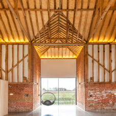Farmyard barn transformed into impressive modern home