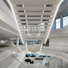 Selux Linear Lighting for HVB Tower Munich