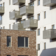 Guttercrest copings at award winning social housing