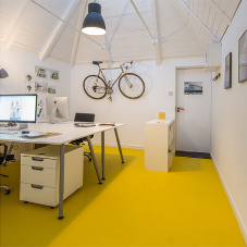 Bright bloc flooring brings colour to office