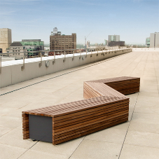 Stylish furniture for roof terrace