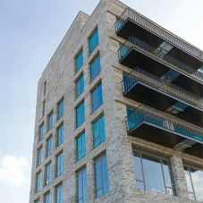 Brick faced soffit units at London's Royal Docks