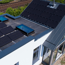 Innovative standing seam roofing at self-build eco-house