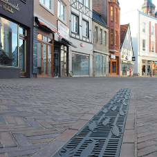 Freestyle bespoke gratings for town centre upgrade