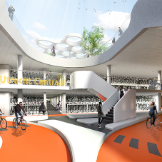 LED lighting for world's largest underground bike-park