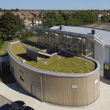 Green roofs for Wolseley Sustainable Building Centre