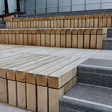 Timber steps for Riverlight London