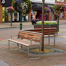 Broxap benches for Crewe town centre