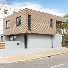 Western Red Cedar envelops urban property in SW London