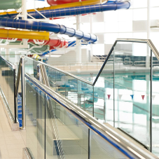 Balustrade installation at New Olympia leisure complex