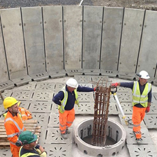 Precast filter bed system for Welsh waste water scheme