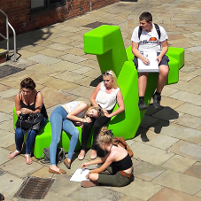 Architectural street furniture for Leeds waterfront