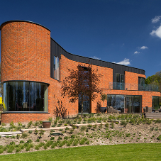 Guttercrest curved coping & cills on award-winning home