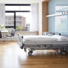 White oak flooring adds bright feel for hospital
