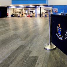 Luxury vinyl tiles & safety flooring for school refurb