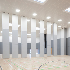 Moveable wall for multi-purpose school hall