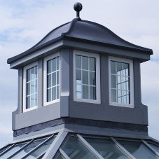 GRP replacement dome roof feature for library
