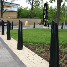 Bespoke bollards for Whitwood public realm