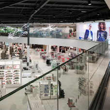 Frameless glass system Debenhams store