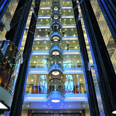 41 KONE elevators aboard the Oasis of the Seas